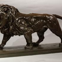 Louis Antoine Barye (1795-1875) Lion qui marche