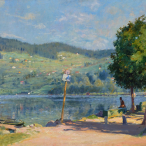 Charles de Meixmoron de Dombasle  (1839-1912) - Lake Gérardmer in the morning