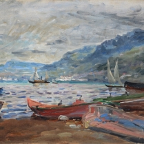 Charles de Meixmoron de Dombasle (1839-1912) - Mountain Lake