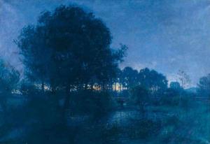 Charles de Meixmoron de Dombasle 4h du matin à Diénay ou Effet de nuit Musée de l'école de Nancy