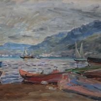 Charles de Meixmoron de Dombasle (1839-1912) - Lac de montagne