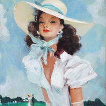 Jean-Gabriel Domergue (1889-1962) Sunday at the Racecourse