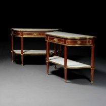 Gervais Durand (1839-1920) Pair of Louis XVI Style Consoles