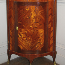 Pair of Satinwood Corner Cupboards