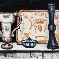 Bernard Buffet (1928 - 1999) - Still Life with Goldsmith's Pieces