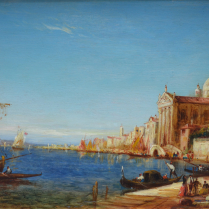 Alfred Bachmann (1863-1956) - View of the Riva degli Schiavoni, Venice