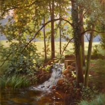 Henri Biva (1848-1928) - Sous-bois ensoleillé
