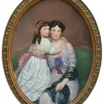 Henry Caro-Delvaille (1876-1926) - Portrait Presumed to be of Madame S. and her Daughter