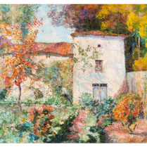 Victor Charreton (1864-1937) - Jardin d'automne
