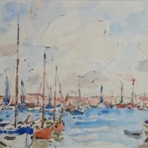 Georges d'Espagnat (1870-1950) - Voiliers dans la baie