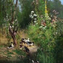 Alexandre Defaux (1826-1900) - Journée de printemps à Montigny-sur-Loing