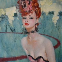 Jean-Gabriel Domergue (1889-1962) - A Young Woman during the Intermission of the Folies Bergère