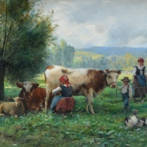 Julien Dupré (1851-1910) - The Milking