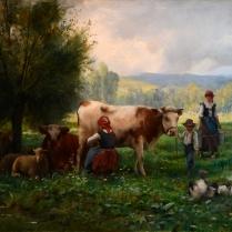 Julien Dupré (1851-1910) - L'heure de la traite