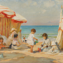 Paul-Michel Dupuy (1869-1949) - Enfants sur une plage de Normandie