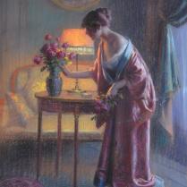 Delphin Enjolras (1857-1945) - Jeune femme au bouquet