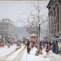 Eugène Galien-Laloue (1854-1941) - Le Marché aux fleurs de la Madeleine, Paris