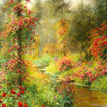 Louis Aston Knight (1873-1948) - La roseraie