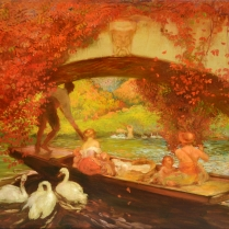 Gaston La Touche (1854-1913) - Boat trip under the bridge