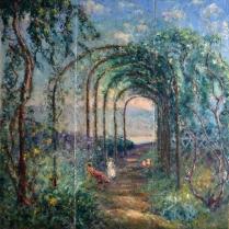 Emmanuel de La Villéon (1858-1944) - Après-midi en famille, 1933