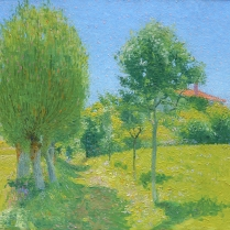 Achille Laugé (1861-1944) - Sunny Morning in Cailhau, 1908