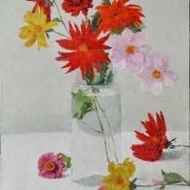 Achille Laugé (1861-1944) - Fleurs dans un vase, 1908