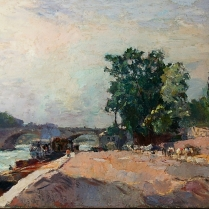 Albert Lebourg (1849-1928) - Quais de Seine à Paris, vue du Carousel et du Louvre