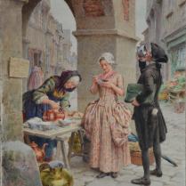 Maurice Leloir (1853-1940) - Marchande de café