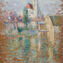 Gustave Loiseau (1865-1935) - Moret-sur-Loing, église Notre-Dame