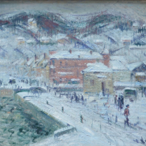 Gustave Loiseau (1865-1935) - Port de Fécamp in the Snow