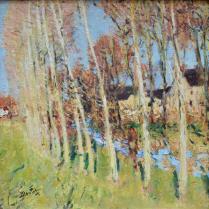 Pierre-Eugène Montézin (1874-1946) - Peupliers près d'un ruisseau