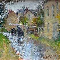 Pierre-Eugène Montézin (1874-1946) - Temps de pluie à Moret-sur-Loing