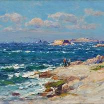 Jean-Baptiste Olive (1848-1936) - Les îles du Frioul, Marseille