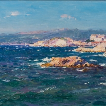 Jean-Baptiste Olive (1848-1936) - View of the Corniche in Marseille