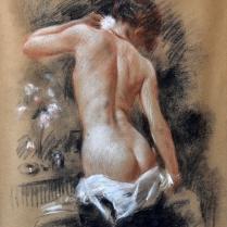 Manuel Robbe (1872-1936) - Nu de dos