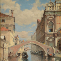 Amédée Rosier (1831-1898) - Scuola Grande di San Marco, Campo San Giovanni e Paolo, Venice