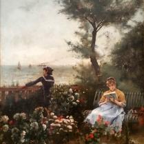 Alfred Stevens (1823-1906) - Jardin sur la mer