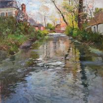 Fritz Thaulow (1847-1906) - Bord de rivière