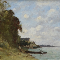 Paul-Désiré Trouillebert (1829-1900) - Berge de la Loire à Montsoreau