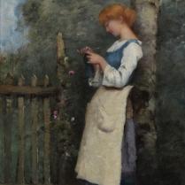 Paul-Désiré Trouillebert (1829-1900) - Le tricot
