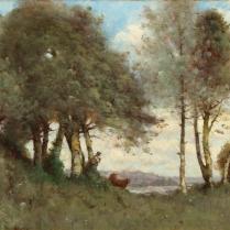Paul-Désiré Trouillebert (1829-1900) - Vacher gardant ses vaches à Romilly-sur-Andelle