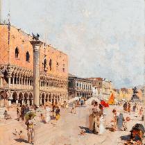 Franz Unterberger (attribué à) (1838-1902) - Le Palais des Doges, Venise