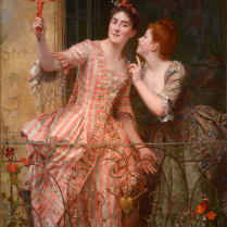 Emile Villa (1836-1900) - The Enticement