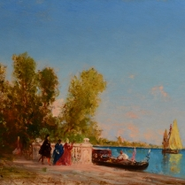 Félix Ziem (1821-1911) - Les jardins français, Venise