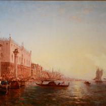 Félix Ziem (1821-1911) - Gondoles près du Môle, à Venise