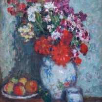 Georges d'Espagnat (1870-1950) - Still Life of Fruit and Flowers in a Vase