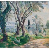 Henri Lebasque (1865-1937) - The artist's family under the trees