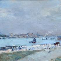 Albert Lebourg (1849-1928) - Quais de Seine vers le Pont d'Austerlitz, circa 1880