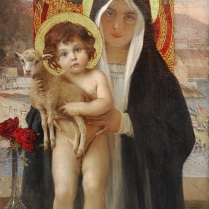 François Flameng (1856-1923) - Vierge à l'enfant