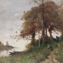 Paul-Desiré Trouillebert (1829-1900) - Along the path